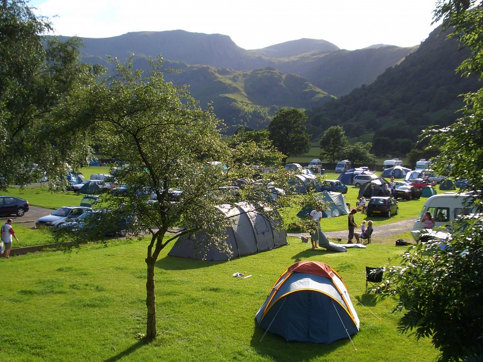 Sykeside camp site in the Lake District