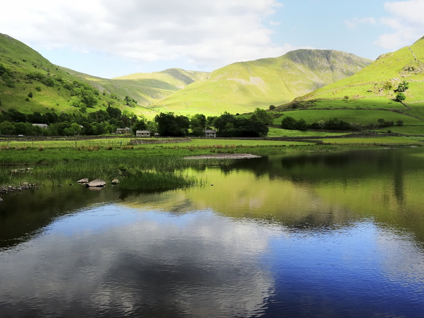 View of Brotherswater close to the camp site
