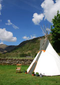 Rent a tipi at Sykeside for easy Lake District camping